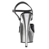 Black 15 cm Pleaser KISS-209 Chrome Platform High Heels