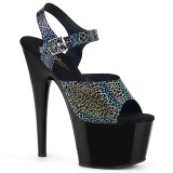 Black 18 cm ADORE-708N-CK Hologram platform high heels shoes