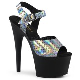 Black 18 cm ADORE-708N-MS Glitter Platform High Heels Shoes