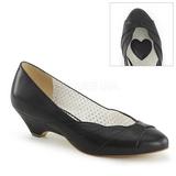 Black 4 cm retro vintage LULU-05 Pinup Pumps Shoes with Low Heels