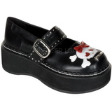 Black 5 cm EMILY-221 lolita shoes gothic womens platform shoes