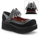 Black 6 cm DEMONIA SPRITE-09 gothic platform shoes