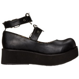 Black 6 cm SPRITE-02 lolita shoes gothic platform shoes
