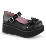 Black 6 cm SPRITE-04 lolita shoes gothic platform shoes