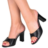 Black 8,5 cm ROMANCE-301-2 High Women Mules Shoes for Men