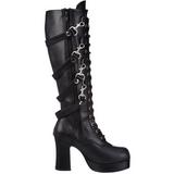 Black 9,5 cm GOTHIKA-209 lolita knee boots goth platform boots