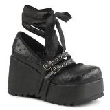 Black 9 cm DEMONIA SCENE-20 gothic platform shoes