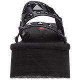 Black 9 cm FUNN-18 Goth Platform Sandals Womens