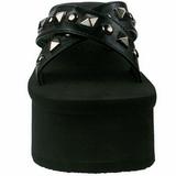 Black 9 cm FUNN-29 Goth Platform Sandals Womens