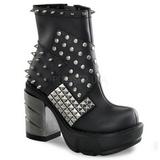 Black 9 cm SINISTER-64 lolita ankle boots goth platform boots