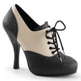 Black Beige 11,5 cm CUTIEPIE-14 Oxford Pumps Shoes Flat Heels