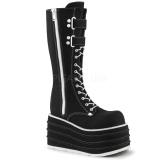 Black Canvas 10 cm MORI-310 demonia boots platform