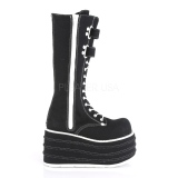 Black Canvas 10 cm MORI-310 demonia boots platform