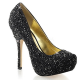 Black Glittering Stones 13,5 cm FELICITY-20 Womens High Heels Shoes