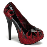 Black Glittering Stones 14,5 cm TEEZE-27 Womens High Heels Shoes