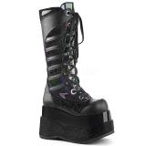 Black Leatherette 11,5 cm DEMONIA BEAR-205 goth platform boots