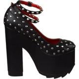 Black Leatherette 16 cm CRAMPS-06 Goth Pumps Shoes