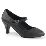 Black Leatherette 8 cm DIVINE-440 Pumps with low heels