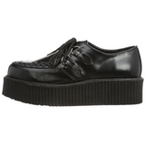 Black Leatherette V-CREEPER-502 Platform Mens Creepers Shoes