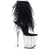 Black Marabou Feathers 20 cm FLAMINGO-1017MFF Pole dancing high heels