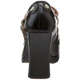 Black Matte 10,5 cm CRYPTO-06 Goth Platform Pumps Shoes