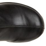 Black Matte 13 cm BRAVO-100 Platform Knee High Goth Boots