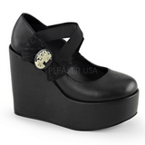 Black Matte 13 cm POISON-02 Platform Wedge Pumps Shoes