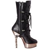 Black Matte 14 cm MUERTO-1026 Platform Ankle High Goth Boots