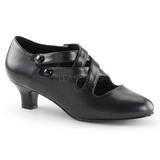 Black Matte 5 cm DAME-02 Women Pumps Shoes Flat Heels