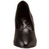 Black Matte 8 cm DIVINE-420W Pumps with low heels