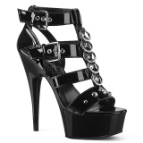 Black Patent 15 cm DELIGHT-658 pleaser shoes with high heels