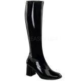 Black Patent 7,5 cm Funtasma GOGO-300 Women Knee Boots
