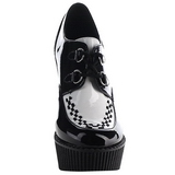 Black Patent CREEPER-302 creepers wedges women shoes