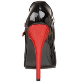 Black Red 15 cm DOMINA-442 Womens Shoes with High Heels