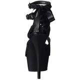 Black Satin 15 cm Pleaser DELIGHT-678LC High Heels Platform
