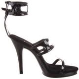 Black Shiny 12 cm FLAIR-458 Womens High Heel Sandals