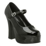 Black Shiny 13 cm DOLLY-50 High Heel Pumps for Men