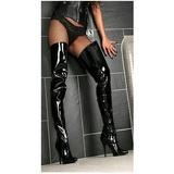 Black Shiny 13 cm SEDUCE-4010 High Heeled Overknee Boots