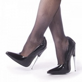 Black Shiny 15 cm SCREAM-01 Fetish Pumps Women Shoes