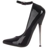 Black Shiny 16 cm DAGGER-12 Fetish Pumps Women Shoes