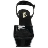 Black Shiny 16 cm Pleaser DIAMOND-609 Platform Stiletto High Heels