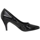 Black Shiny 7,5 cm PUMP-420 Low Heeled Classic Pumps Shoes