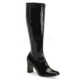 Black Shiny 9,5 cm FUNTASMA KIKI-350 Women Knee Boots