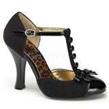 Black Suede 10 cm SMITTEN-10 Rockabilly Pumps with low heels