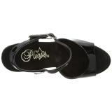 Black Transparent 14 cm ALLURE-609 Platform Stiletto High Heels