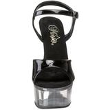 Black Transparent 15 cm CAPTIVA-609 High Heels Platform