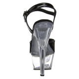 Black Transparent 15 cm Pleaser KISS-209 High Heels Platform