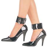 Black Varnished 10,5 cm VANITY-434 Women Pumps Shoes Flat Heels