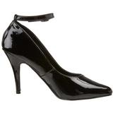 Black Varnished 10 cm VANITY-431 Women Pumps Shoes Flat Heels