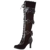 Black Velvet 9,5 cm GLAM-300 High Heeled Overknee Boots